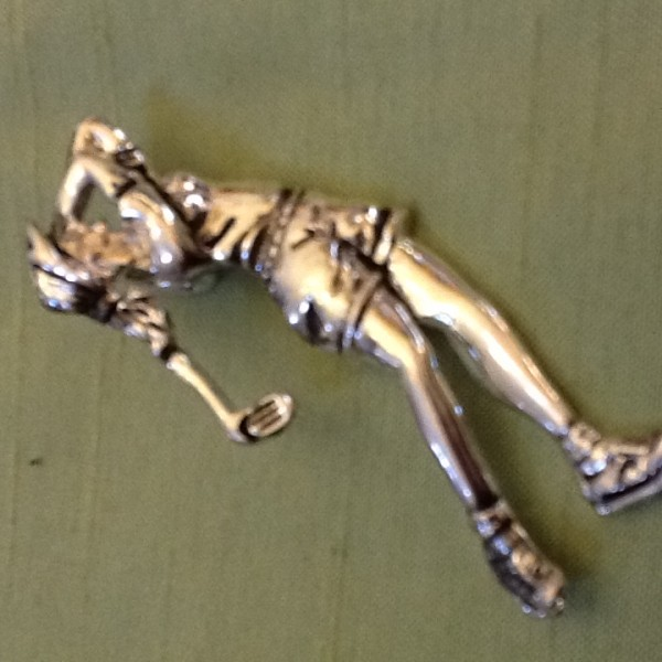 Lady Golfer Pendant or Pin